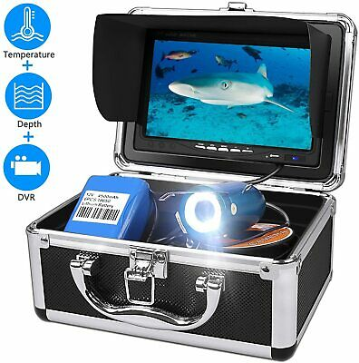 Underwater Fishing Camera, Fish Finder System 7  LCD Depth And Temperature NEW • 185.99£