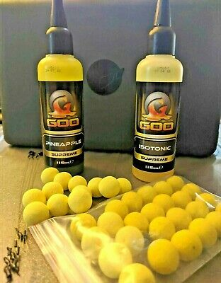 Pop Ups Carp Boilies 25x 14mm Yellow Soaked In Korda Goo Pineapple And Isotonic  • 3.50£
