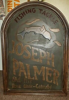 Wooden Fishing Tackle Sign • 85£