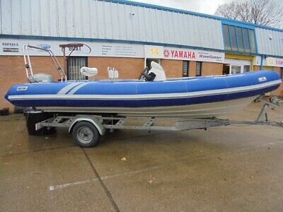 Avon 620 Adventure Rib Boat Mariner 90 Hp Outboard Motor And Trailer • 14,495£