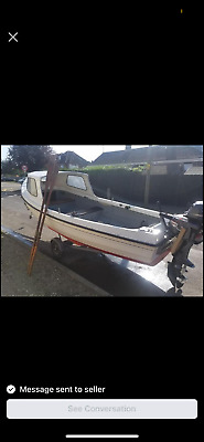 Orkney Longliner Day Fishing Boat 16 Foot With 2 Outboards And Trailer • 1,170.60£