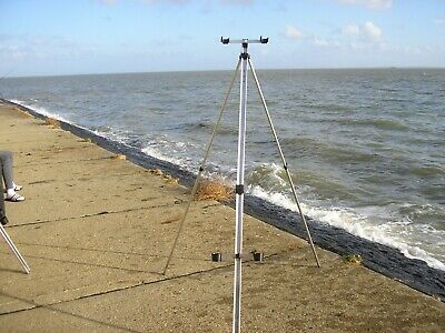 6ft  EXSTENDABLE SEA FISHING TRIPOD Double Head And Cups • 29£