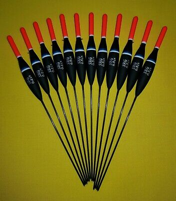 *BARGAIN* 12 X Assorted High Quality Pole Fishing Floats (Pack 325R12) • 8.99£