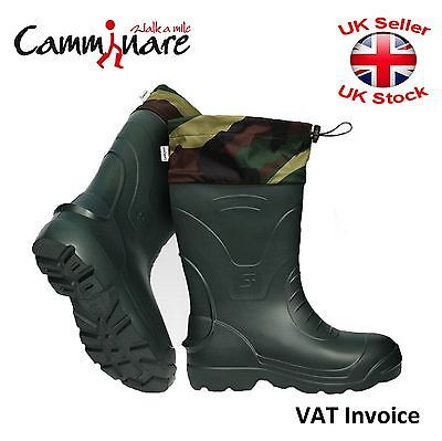 Camminare Thermal LIGHTWEIGHT EVAMATERIAL Wellies Wellingtons Boots Voyager Camo • 27.97£