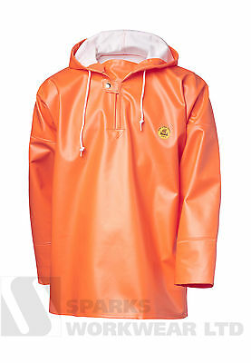 Viking Rubber Rain Smock Primeur Hooded Fishing Fully Waterproof Hi Vis Orange • 51.20£