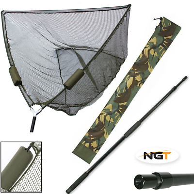 Carp Fishing 50  Inch Green Ngt Dual Float Landing Net, Handle, Camo Stink Bag • 15.95£