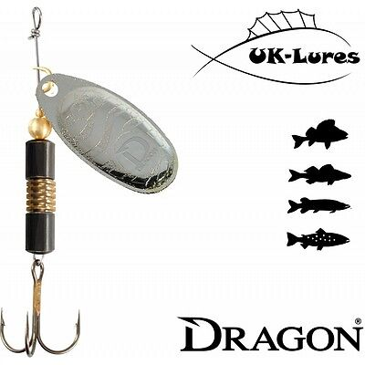Dragon CM-Classic Spinner 12-20 Predator Tackle Soft Lures Jig Heads Mepps Holo • 2.99£