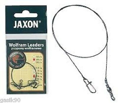 2x Wolfram Leader Jaxon Tungsten Braid With Swivel And Snap Quick Clip Mix Sizes • 2.79£