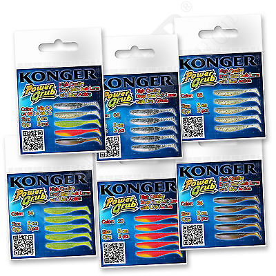 Soft Rubber Lures For Drop Shot 5cm 2'' Jig Perch Pike Bait Set Fishing Shad • 4.20£
