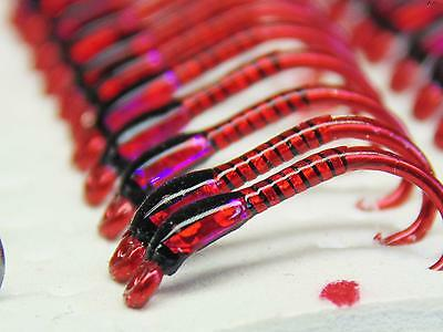 3 X Black And Red Hollo Buzzers  Red Ice Cheeks Size 12 Trout Fishing Flies • 2.21£