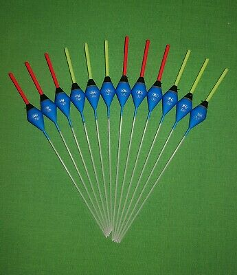 12 X Assorted High Quality Pole Fishing Floats (Pack D) • 9.99£