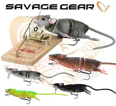 Savage Gear 3d Rad Surface Pike Fishing Lure Rat PIKE PREDATOR FISHING TACKLE UK • 19.99£