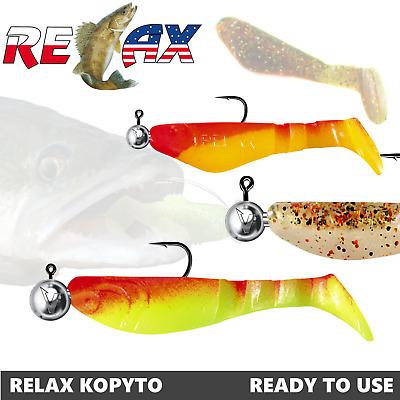 Kopyto With Jig Head 2 -3  2pcs Lure Fishing Relax Lures Ready To Use Pre-rigged • 3.99£