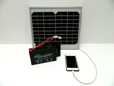 Solar Panel Charger For Microcat Bait Boat Battery With USB For Phone • 59.99£