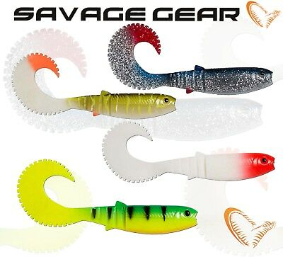 Savage Gear Fishing Lures CANNIBAL CURL TAIL Soft Plastic Bait Jig Lure Shad Lrf • 6.49£