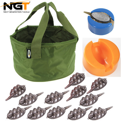 Ngt Inline Method Feeders And Moulds Groundbait Bowl For Carp Fishing Baits • 2.95£