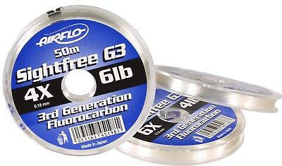 New Airflo Sightfree G3 Flurocarbon Fly Salmon Trout Leader/Tippet 50/100mtr • 10.95£