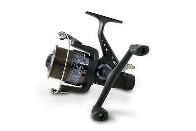 Lineaeffe All Black Freespool Carp Fishing Reel Double Handle Loaded With Line • 21.99£
