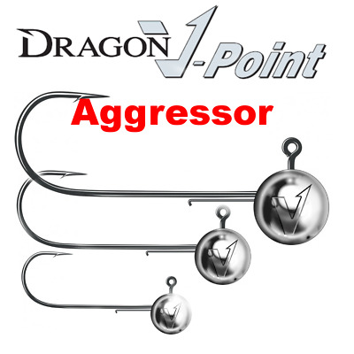 DRAGON AGGRESSOR Jig Heads  Lure Fishing Jig Head Hooks For Soft Lures • 4.59£
