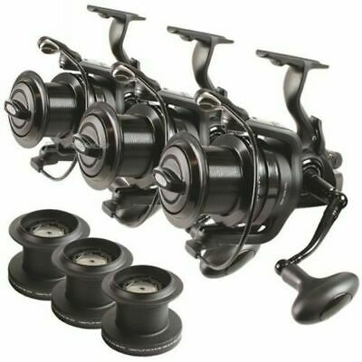 3 X Dynamic 9000 10BB Big Pit Large Carp Fishing Runner Reels Spare Spools NGT • 139.70£