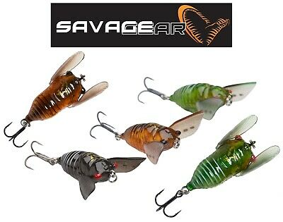 SAVAGE GEAR 3D Cicada Surface Topwater Fishing Lure Chub Bass Predator Tackle UK • 7.99£