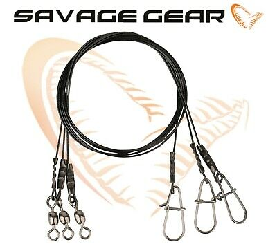 Savage Gear Black 7 Coated Steel Wire Traces Lure Predator Fishing Tackle Pike  • 4.99£