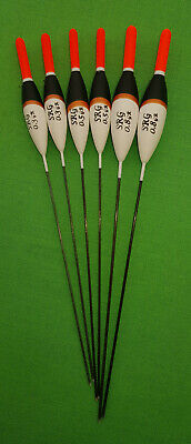*BARGAIN* 6 X Assorted High Quality Pole Fishing Floats (Pack 303R6) • 4.99£