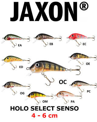 Jaxon HS Senso Crankbait Wobler Lure Fishing Trout Ide Chub Perch  FLOATING  • 5.29£