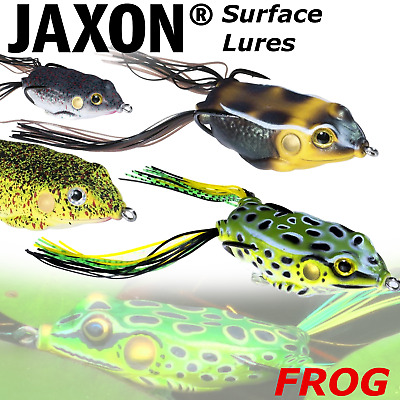 Surface Frog Lures Top Water Jaxon Magic Fish Pike Lure Fishing Weedles Hooks • 5.99£