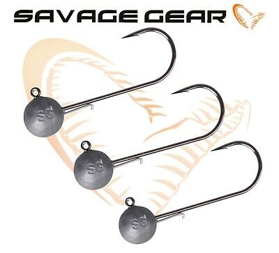 Savage Gear 3Pcs Jig Heads For Soft Plastic Lure 4Play Cannibal Shad Sandeel Lrf • 6.99£