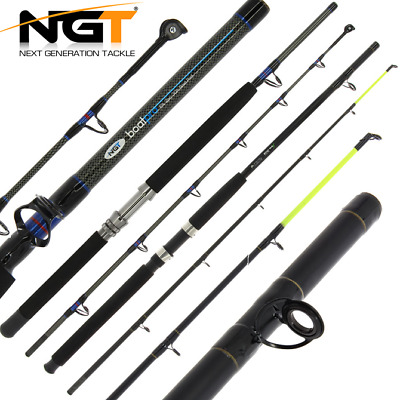 Ngt Boat Rods, Sea Fishing Boat Max Or Boat Pro Models Roller Top 6ft 2pc 25lb • 24.95£