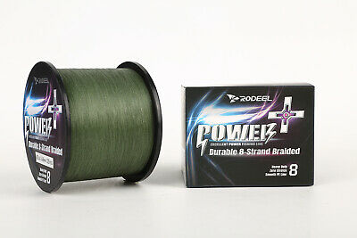 RODEEL 8 Strands PE Braided Fishing Line 500m 70-120LB Abrasion Green Or Colour • 12.99£