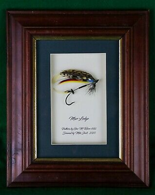 Framed Classic Salmon Fly Mar Lodge As Per Kelson In 10  X 8  Frame • 30£