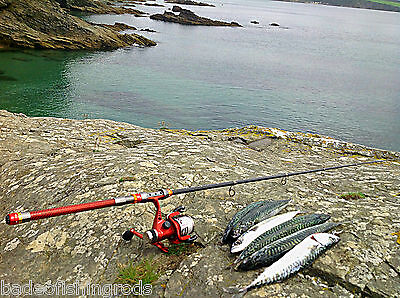 Spinning Travel Fishing Rod 2.1 M Inc Reel / FREE UK POSTAGE / GREAT GIFT • 49.99£