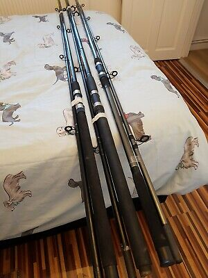 Lovely JOB LOT OF 3 ,SEA FISHING RODS ,SEE PHOTOS FOR MAKES AND SIZES .LOT 1  • 5£