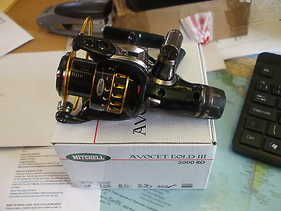 New Model Mitchell Avocet 3 Gold 2000RD Rear Drag Match Float Spinning Sea Reel  • 34.99£