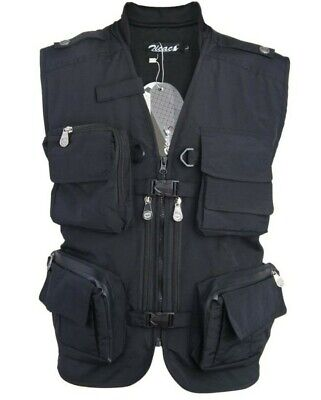 Mens Outdoor Photography/camping/Hunting/Fishing Vest Gillet Black L • 15£