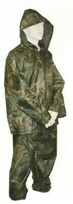 Realtree Camo Design 2 Piece Waterproof Jacket And Trouser Set Hunting Fishing • 19.99£