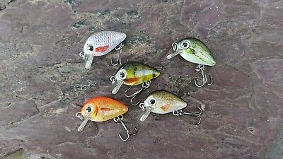 Trout Perch Lure Pack (5 Lures) 30mm 1.8g #10 Treble Floating Shallow Wobbler S9 • 5.99£