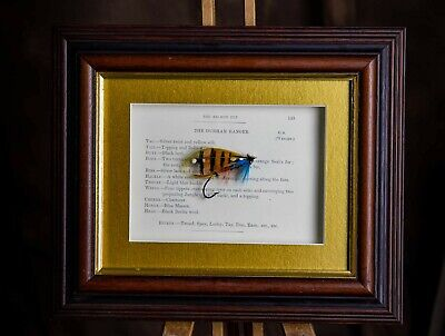 Framed Classic Salmon Fly For Collectors Durham Ranger In 9  X 7  Frame • 30£
