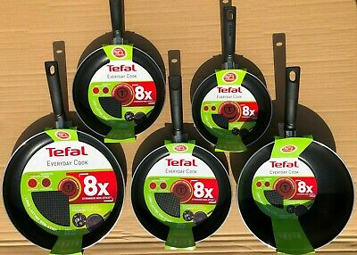 Tefal Everyday Cook Non-Stick 8x Choose Frying Pan 32 26 24 20 Cms Or 28cms Wok • 15.95£