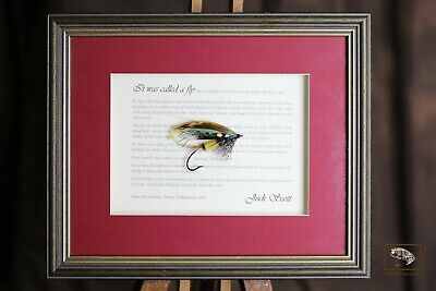 Framed Classic Salmon Fly For Collectors Jock Scott In 10  X 8  Frame • 30£