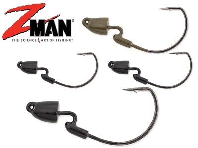 Z-Man Finesse Bullet Z Jig Heads TRD Weedless Soft Plastic Lure Fishing Zman Lrf • 8.99£