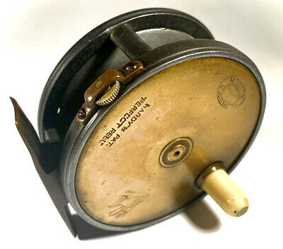 Hardy Perfect Brass Faced Narrow Drum Reel • 995£