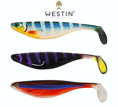 WESTIN Fishing Lures ShadTeez LIMITED EDITION 9cm 10cm 12cm Shad Teez Pike Perch • 8.99£