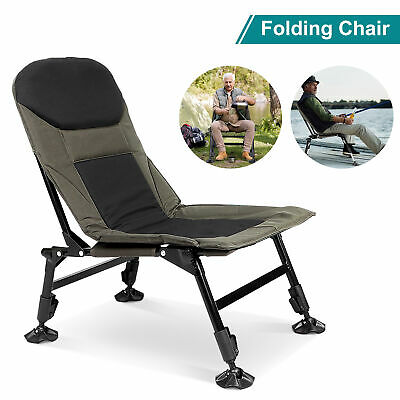 Folding Armchair Fishing Camping Hiking Outdoor Chair Recliner Adjustable Chairs • 39.40£
