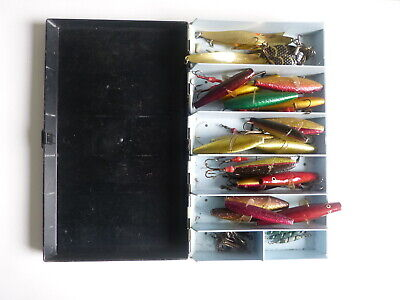Selection Vintage Abu Spinning Lures In Abu Box. • 34.99£