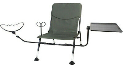 ** New ** Ron Thompson Fishing Chair With Feeder Arm, Rod Rest & Side Tray • 67.95£