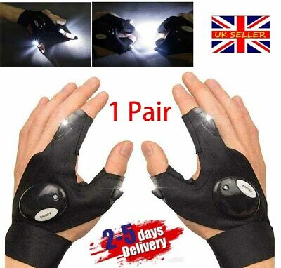 1 Pair LED Gloves With Waterproof Lights Fishing Glove UK NEW • 8.76£