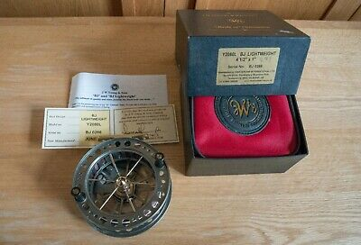 JW Young Y2080L Bob James Lightweight Centrepin Reel. Boxed With Certificate. • 150£